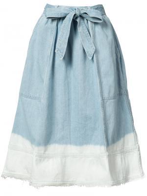 Bleached effed A-line skirt Ulla Johnson. Цвет: синий