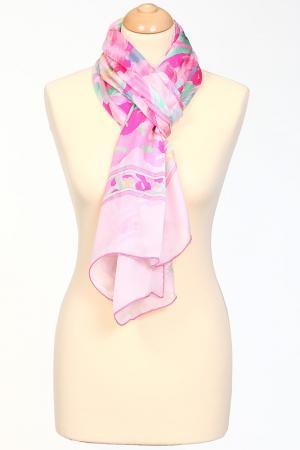 Палантин Leonard. Цвет: мультицвет на нежном розовом