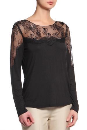 Блуза Elie Tahari. Цвет: черный