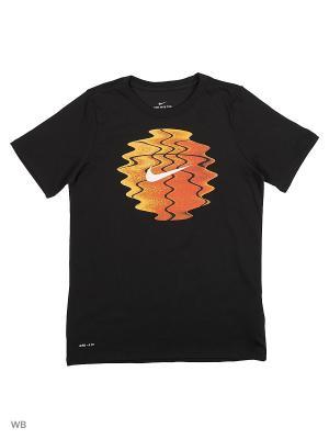 Футболка B NK DRY TEE SS SCANNER BALL Nike. Цвет: черный