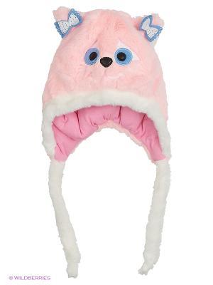 Шапка-ушанка Olle. Цвет: бледно-розовый
