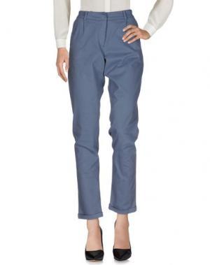 Повседневные брюки LE TRICOT PERUGIA. Цвет: грифельно-синий