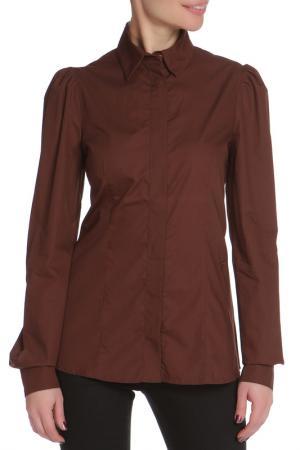 Рубашка GF FERRE. Цвет: коричневый