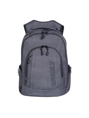 Рюкзак Grizzly. Цвет: черный, серый