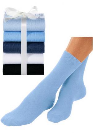 Носки, 5 пар GO IN. Цвет: 5х белый, 5х черный, черный+темно-синий+синий+экрю+голубой