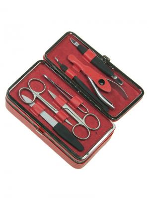Маникюрный набор 7 предметов GD. Цвет: красный