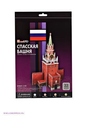 3D пазл Спасская башня CubicFun. Цвет: красный