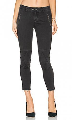 Укороченные узкие мото джинсы no. 4 instasculpt DL1961. Цвет: none