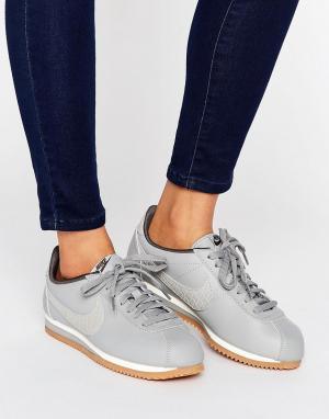 Nike Серые кроссовки-премиум Cortez. Цвет: серый