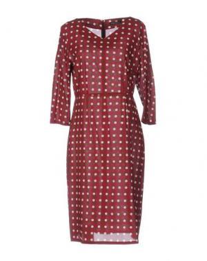 Платье до колена LAURA URBINATI. Цвет: пурпурный