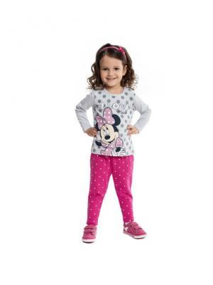 Брюки детские трикотажные для девочек PlayToday. Цвет: малиновый