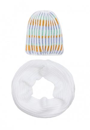 Комплект снуд и шапка Pretty Mania. Цвет: разноцветный