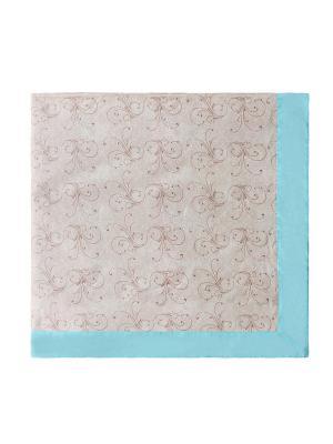 Скатерть квадратная с лопухами Лоскутклаб. Цвет: бежевый, голубой