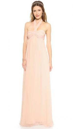 Длинное вечернее платье Tatum без бретелек Joanna August. Цвет: балерина