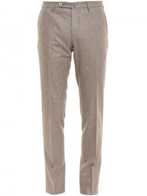 Flannel Wool Trousers Browns. Цвет: телесный