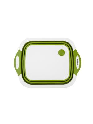 Разделочная доска  2 в 1 Collapsible Chop Board Salter. Цвет: зеленый, белый