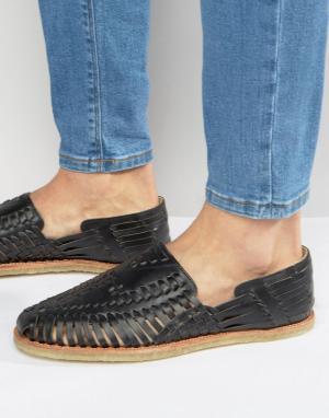Toms Кожаные сандалии Huaraches. Цвет: черный
