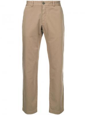 Классические брюки-чинос Sunspel. Цвет: коричневый