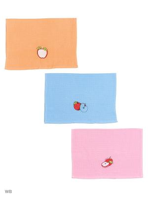 Кухонные полотенца ЛЮКС 3шт.45*65 см Dorothy's Нome. Цвет: синий, бледно-розовый, персиковый