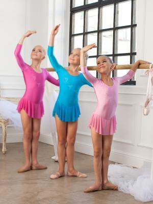 Гимнастический купальник Arina Ballerina. Цвет: розовый