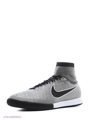 Кеды для зала MAGISTAX PROXIMO IC Nike. Цвет: серый, серый меланж, серо-зеленый