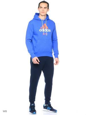 Худи Community Hoody Judo Adidas. Цвет: синий, оранжевый