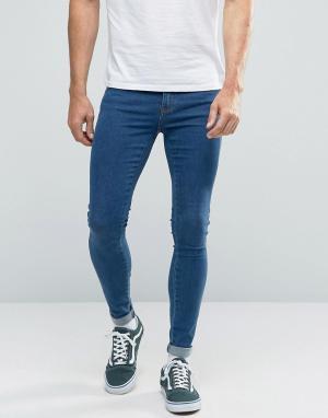 Dr Denim Супероблегающие джинсы Dixy. Цвет: синий