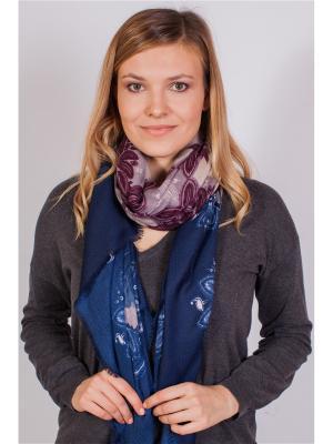 Платок Sophie Ramage. Цвет: синий, бежевый, бордовый