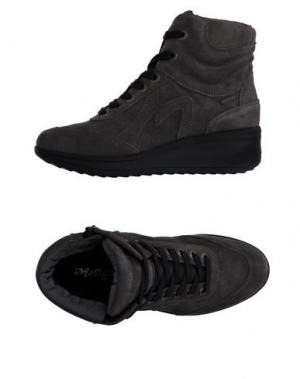 Высокие кеды и кроссовки MELLUSO. Цвет: серый