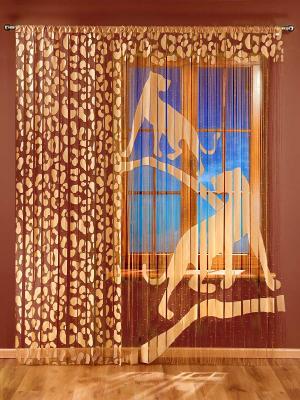 Гардина-лапша Пума Wisan. Цвет: светло-коричневый