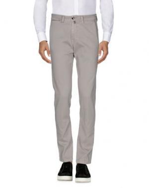Повседневные брюки FRADI. Цвет: светло-серый