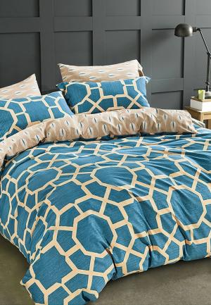 Комплект постельного белья Bellehome. Цвет: синий