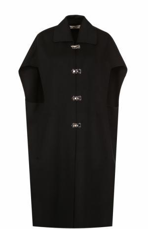 Удлиненный шерстяной жилет с отложным воротником Marni. Цвет: черный
