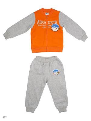 Толстовка на молнии и брюки Sago Kids i Ant Domain. Цвет: оранжевый, серый