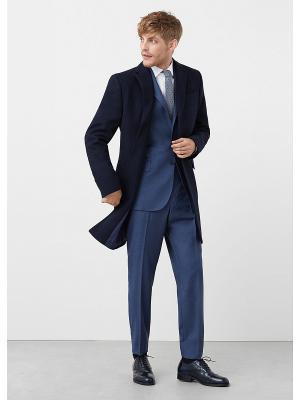 Пальто - ARIZONA7 MANGO MAN. Цвет: темно-синий
