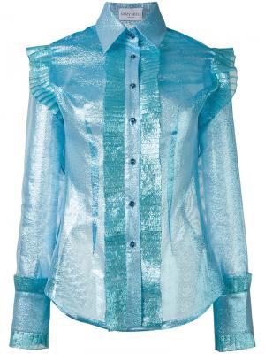 Рубашка с блестящей отделкой Daizy Shely. Цвет: синий