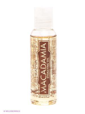 Увлажняющее восстанавливающее масло Kativa для нормальных и поврежденных волос MACADAMIA. Цвет: светло-желтый, белый