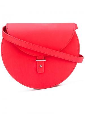Круглая сумка через плечо Pb 0110. Цвет: красный