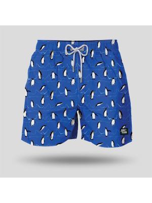 Шорты пляжные мужские JOHN FRANK. Цвет: синий