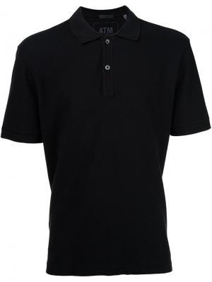 Классическая футболка-поло Atm Anthony Thomas Melillo. Цвет: чёрный