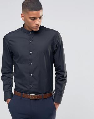 Number Eight Savile Row Рубашка с воротником застежкой на пуговицы. Цвет: черный