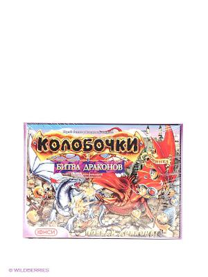 Настольная игра Колобочки. Битва драконов ЮНСИ. Цвет: бежевый, голубой, красный