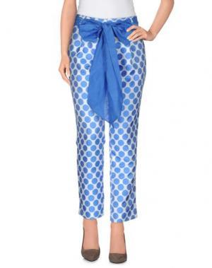 Повседневные брюки LA CAMICIA BIANCA. Цвет: пастельно-синий