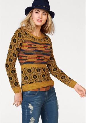 Пуловер AJC. Цвет: карри/индиго