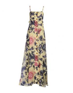 Длинное платье JUST CAVALLI. Цвет: желтый