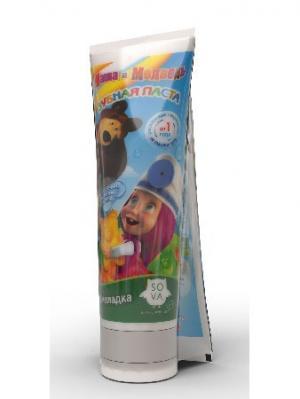 Детская зубная паста-гель Мармеладка  2шт*75 мл Маша и медведь. Цвет: светло-зеленый