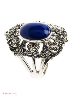 Кольцо МАРКАЗИТ. Цвет: темно-синий, серебристый