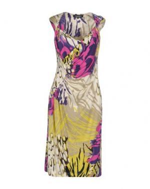 Платье до колена MARTA PALMIERI. Цвет: фуксия