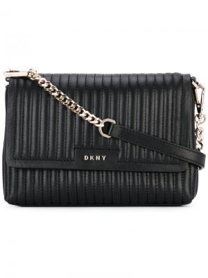 Стеганая сумка на плечо Donna Karan. Цвет: чёрный