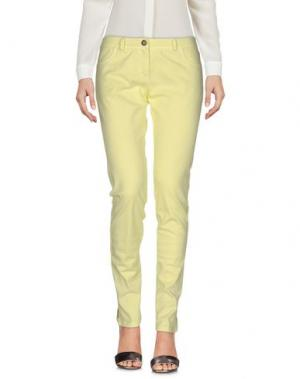 Повседневные брюки ALAN RED. Цвет: желтый